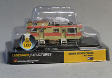 WOODLAND SCENICS DOUBLE DECKER TRAILER BUILT & READY N SCALE gauge park 4951 NEW