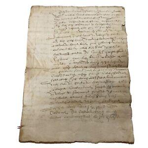 RARE Renascence Era 1582 Paper Manuscript Document Medieval Period Old Artifact