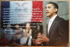 message 2008 Obama//Biden for President Postcard w facsimile signature /& G.O.T.V