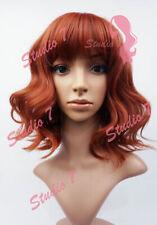 W101 Auburn Shoulder Length Wavy Ladies Wig Natural Look - studio7-uk