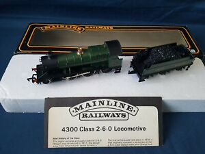MAINLINE 37-090 GWR GREEN 2-6-0 MOGUL 43XX LOCO & TENDER 5322 EXCELLENT BOXED