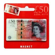 £50 Note Fridge Magnet Fifty Pounds Currency UK GB England Souvenir Gift Money