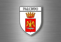 sticker adesivi adesivo stemma etichetta bandiera auto palermo italia