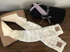 Pink Victorias Secret Mukluks Small 5 / 6 Cream White Tall Sweater Boots Blanket