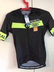 "AUDI DENVER Cycling Jersey PFIMAL WEAR Equinox Race Cut Sz XS Pit To Pit 14"""