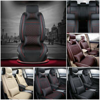 100% PU Leather Car Seat Cover 5-Seats Universal SUV Cushion Front+Rear Full Set