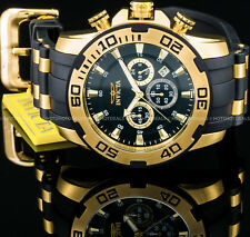 Invicta Mens 50mm Pro Diver Scuba Chronograph 18K Gold IP Stainless Steel Watch