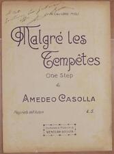 AMEDEO CASOLLA MALGRE LES TEMPETES ONE STEP SPARTITO PIANOFORTE AUTOGRAFO 914