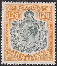 Bermuda 1932 KGV 12sh6d Grey and Orange Mint SG93 cat £250