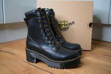 Dr MARTENS KARMILLA Vintage Smooth Leather Black Heel Boots Lace Zip UK 7 EU 41