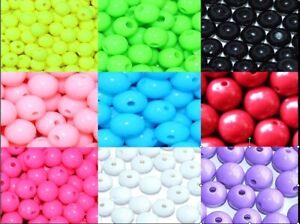 various colours round acrylic beads 6mm/1000pcs, 8mm/500pcs,10mm/250pcs