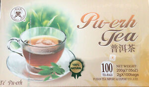 Puerh PUER Pu-erh Chinese 100 Tea Bags Pure Quality