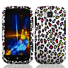 Samsung Focus 2 i667 Rubberized HARD Protector Case Cover White Color Leopard