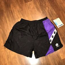 NWT Vtg 90s LOTTO Soccer Shorts Shiny Nylon wet look color block NEW Mens LARGE