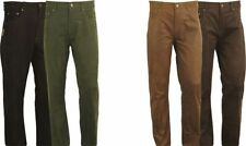 Leather Regular Size Rise 34L Trousers for Men