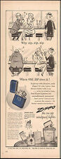 1950 Vintage ad for Zippo Lighters Art Cartoon Elf Retro(041317)