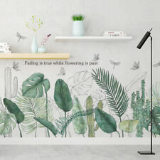 Tropical Plants Green Leaves Living room Bedroom Decor Vinyl Wall Stickers Decal