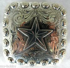 """3"""" Mojave Star Buckle w/Screwback Concho - Hide Crafter #1956-03"""
