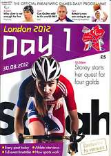 PARALYMPIC GAMES DAY COMPLETE SET OF DAILY PROGRAMMES LONDON 2012