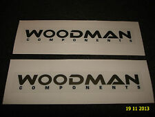 2 AUTHENTIC WOODMAN COMPONENTS PROMO STICKERS #2 / DECALS / AUFKLEBER
