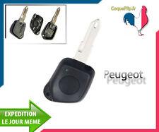 Coque Télécommande Plip Bouton Peugeot 106 206 306 406 + Cle vierge