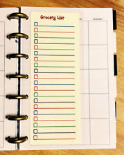 Grocery List Two Sided Short Dashboard for use with MINI Happy Planner