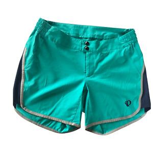 Pearl Izumi Journey Shorts No Liner Women Large L Turquoise Green Trail Bike