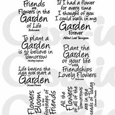 Card-io A6 Sentiments Collection Clear STAMPS Garden Quotes Ccstgar-02