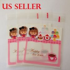 25 pc Cartoon Self Seal Plastic Gift Bag Jewelry Packing For All Party B6