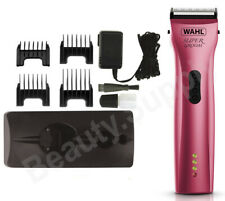 Wahl Super Groom Pink Animal Cordless Clipper - Pet / Horse / Dog Grooming Kit
