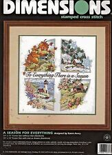 """""""A SEASON FOR EVERYTHING"""" - Stamped Cross Stitch Kit by DIMENSIONS - No Count!"""