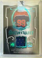 2016 Enshrined Wayne Gretzky Jersey /10 Silverware Hart Memorial Trophy Leaf