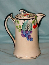 "PERIOD ART DECO PHOENIX WARE COFFEE POT BY TF&S LTD 8"" TALL EXCELLENT CONDITION"
