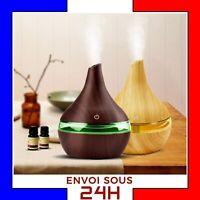 Diffuseur huiles essentielles 300 ml purificateur humidificateur USB LED arome