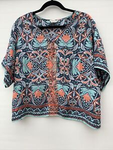 Marks and Spencer Indigo Ladies Size 18 Lovely Summer Floral Mint Top