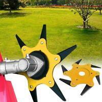 6 Steel Blade Razors 65Mn Lawn Mower Grass Eater Trimmer Head Brush Cutter Tool