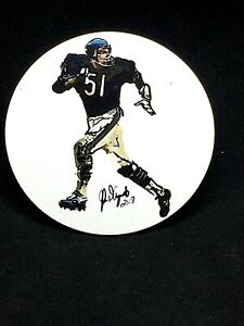 Chicago Bears Dick Butkus magnet-Designed by John D'Acquisto-Collectible