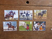 GREAT BRITAIN 2014 WORKING HORSES SET 6  MINT STAMPS