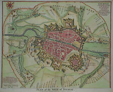 Plan of the Siege of Tournay - Tournai in Belgien von Rapin de Thoyras - 1740