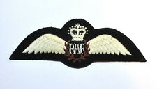 ROYAL AIRFORCE EMBROIDERED PILOT WINGS QUEENS CROWN
