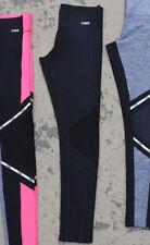 d0c446160efcce Victoria's Secret Pink Ultimate Mesh Bonded Leggings Solid Black L NWT
