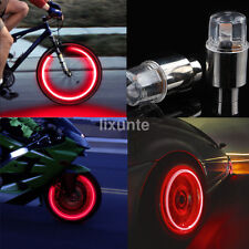 2* LED Wheel Valve Stem Cap Tire Motion Neon Light Lamp For Bike Car Motorcycle