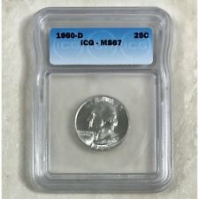 1960 D Washington Quarter ICG MS67 #1910165