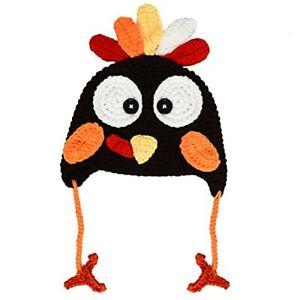 Turkey Hat for Thanksgiving, Knitted Turkey Hat Winter Hat, Thanksgiving