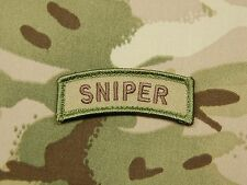 SNIPER Tab Patch Multicam US Army Morale Patch Afghanistan VELCRO® Brand