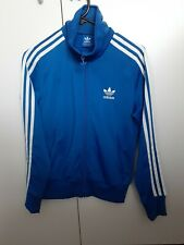 Adidas Clima365 Womens Blue Full Zip Ruched Sleeve Athletic