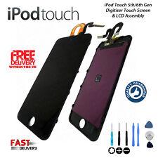 NEW iPod Touch 5th 6th Gen Retina LCD Digitiser Touch Screen Repair - BLACK