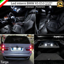 KIT LED INTERNI ABITACOLO BMW X5 E53 CON TETTO PANORAMICO CANBUS + LUCI TARGA