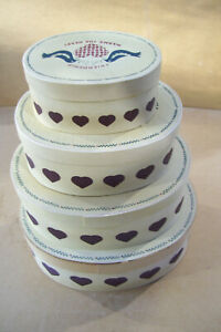 """Decorative set of 4 """"Friendship Warms The Heart"""" Stacking Nesting Storage  Boxes"""
