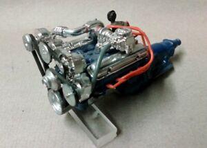 Vintage Monogram Parts - Built 1/24th Scale Turbocharged Engine